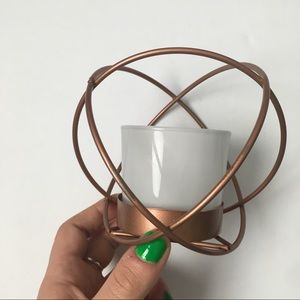 Other - Copper votive candle holder, abstract, modern